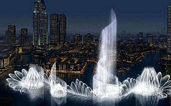 迪拜音乐喷泉-世界第一音乐喷泉