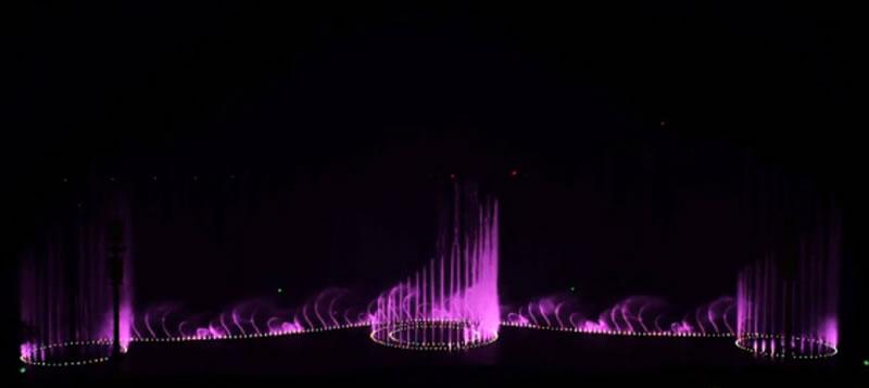 朝阳金泰广场音乐喷泉