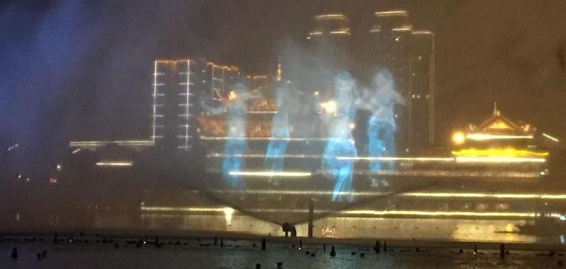 眉山东坡岛大型音乐喷泉