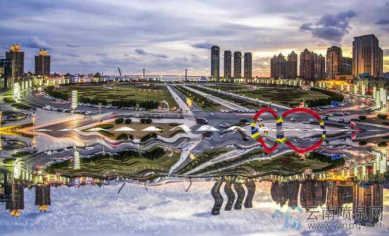 星海广场喷泉介绍——广场音乐喷泉设计