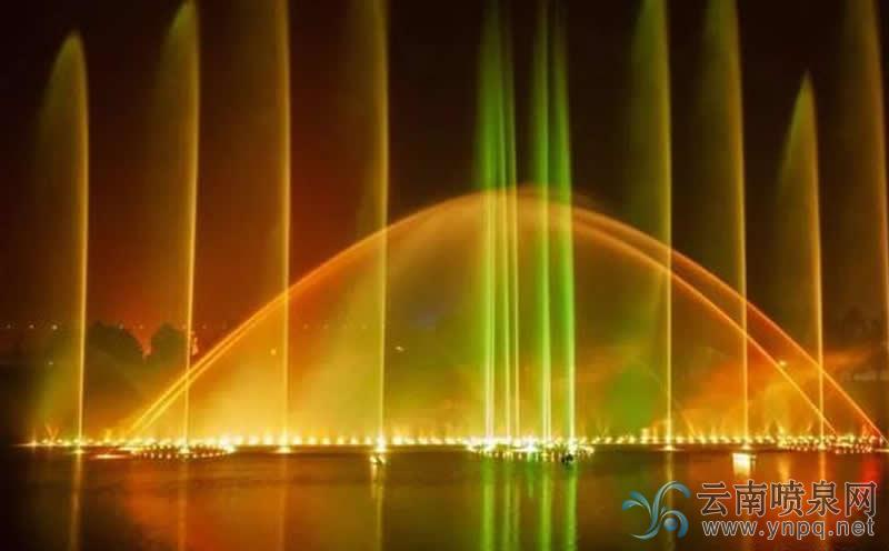 三门峡新增一处音乐喷泉——秦人码头音乐喷泉
