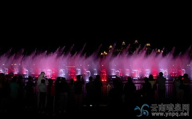 迪拜棕榈岛音乐喷泉