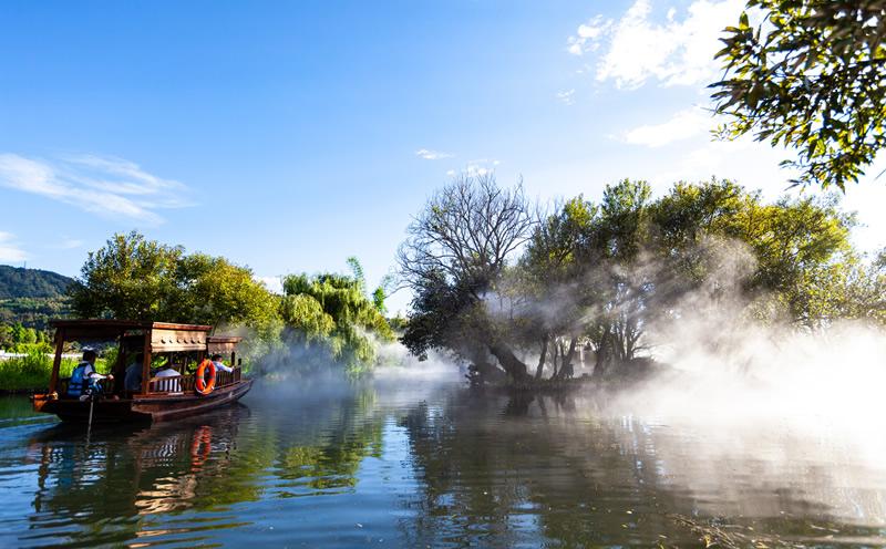 腾冲和顺古镇湿地公园游船河道冷雾项目——云南人造雾工