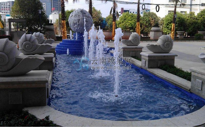 旱地喷泉设计-昆明别样幸福城售楼部幻彩旱地程