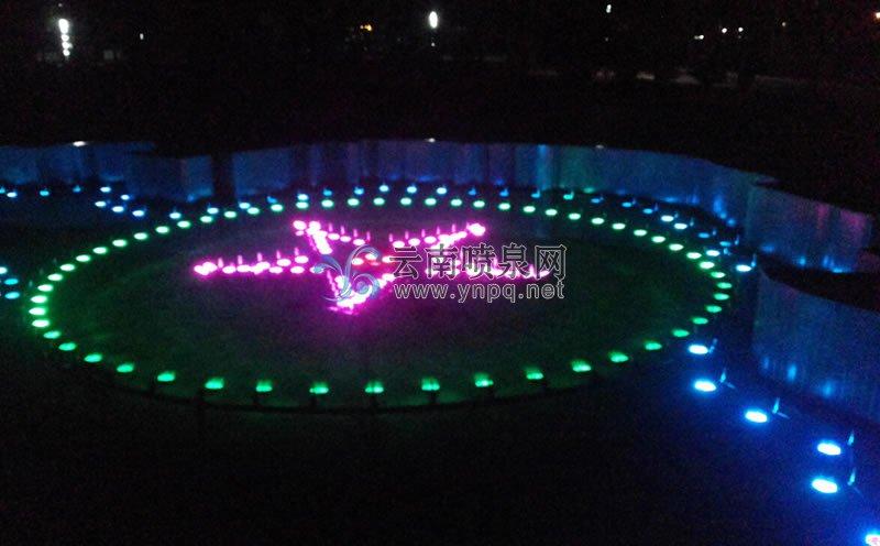 程控喷泉设计-普洱市公安局幻彩程控变频跑泉