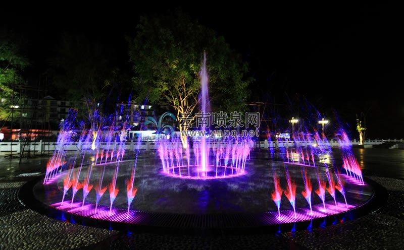 广场音乐喷泉设计-文山麻栗坡天保口