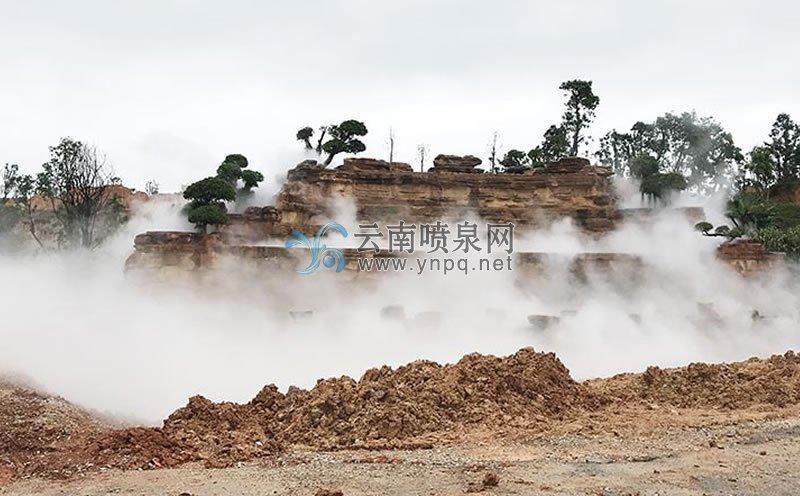 人造雾工程——建水五龙湖公园假山冷雾工程